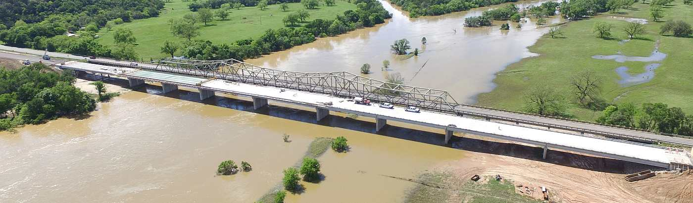 Brazos Bridge Aerial Shot